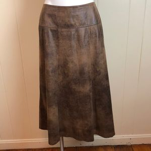 3/$27 Christopher & Banks Faux Suede A Line Skirt